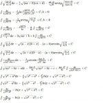 таблица интегралов от иррациональных функций
