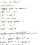 таблица интегралов от рациональных функций