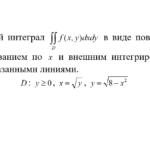 Представить двойной интеграл в виде повторного интеграла
