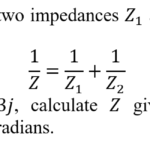 Calculate the equivalent impedance