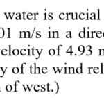 Find the velocity of the wind relative to the water
